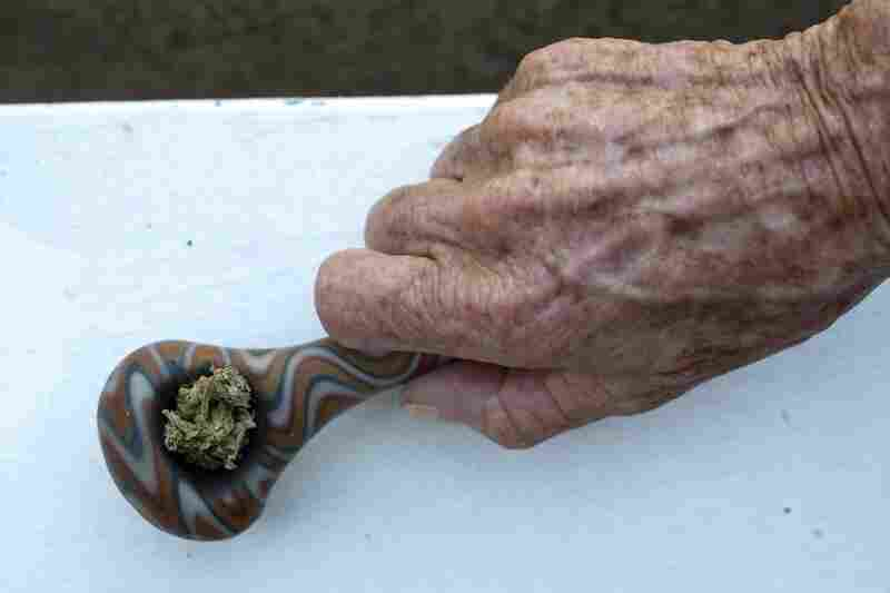 She smokes marijuana to ease the nausea she suffers from multiple sclerosis.