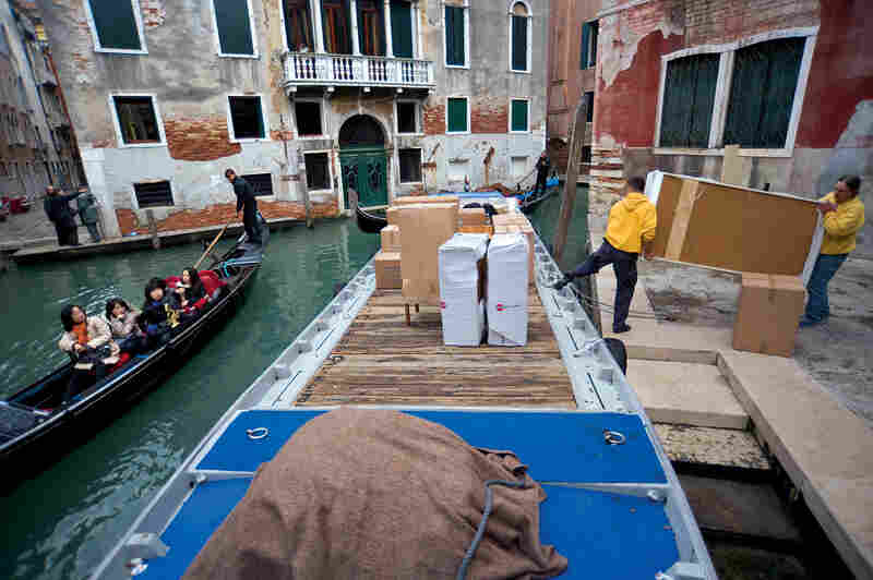 In Venice, there's no such thing as a moving van. So the recent exodus of Venetians has occurred by barge.