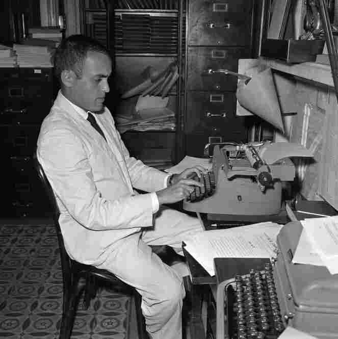 The conservative commentator — shown here in the Senate Press Gallery in Washington in 1958 — got his start as a staff writer for The Associated Press.