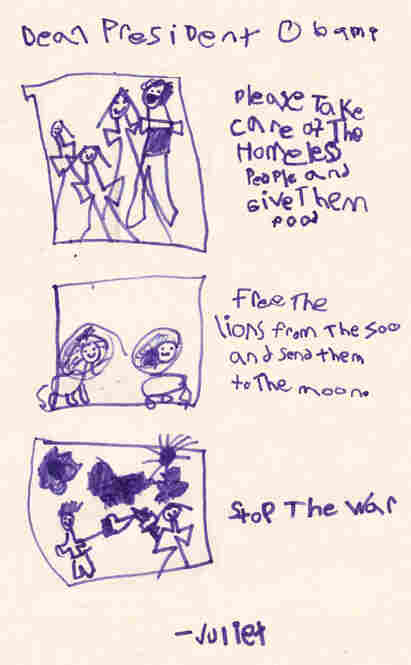 In this letter, Juliet Bruce, 6, expresses her concern about the welfare of lions in the zoo.  Juliet Bruce, 6, New York