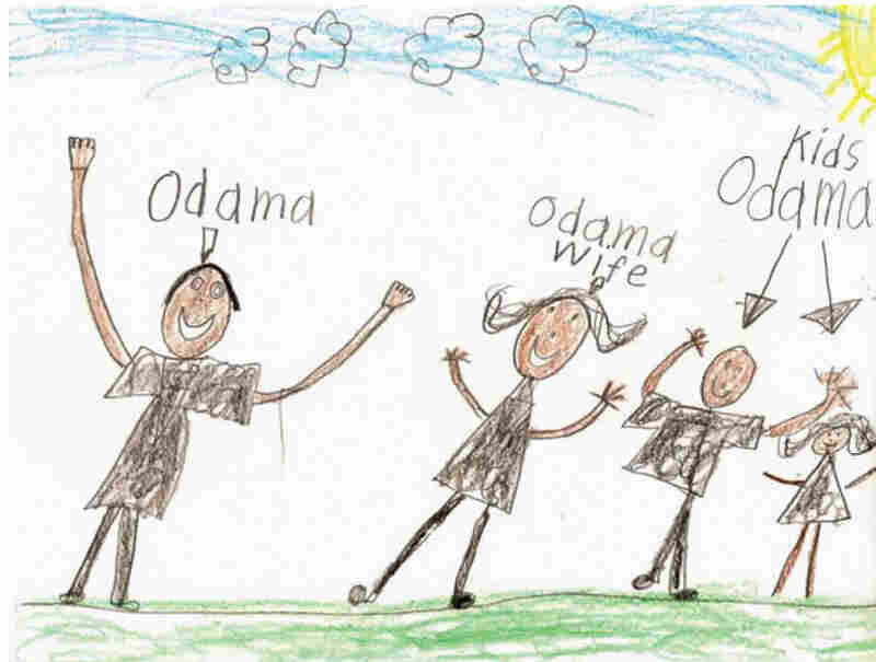 Co-authors Bruce Kluger and David Tabatsky sifted through over 1,000 letters from children for their book,  Dear President Obama. Anthony Nguyen, 7, Lincoln, Neb.
