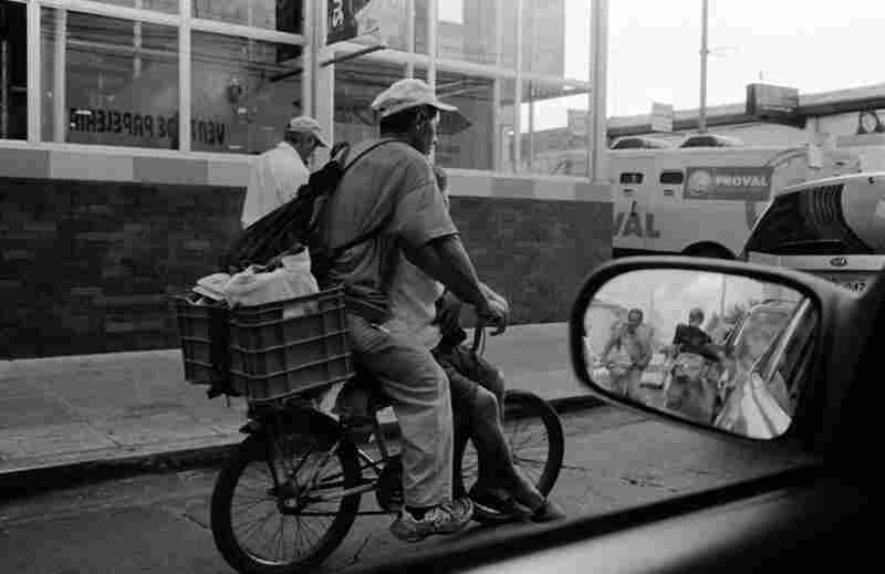 Bicycles are a main source of transportation for many Salvadorans.