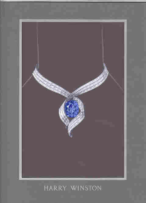 "The proposed design ""Embracing Hope.""  Before the Hope Diamond is reset, it will be displayed on its own, without any adornment, so that visitors can see how it might have appeared to its owners hundreds of years ago."
