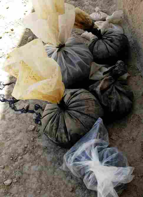 The Marines confiscated 66 pounds of opium at one compound in Dahaneh.