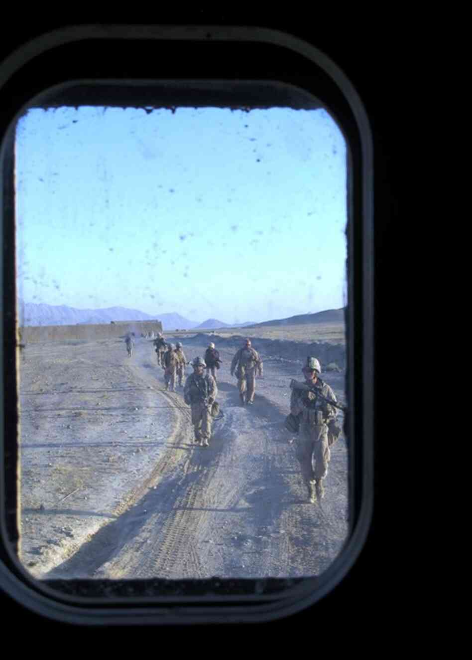 U.S. Marines who arrived in this v