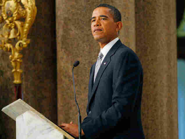 President Obama delivers a eulogy for Sen. Kennedy at the funeral Mass Saturday.