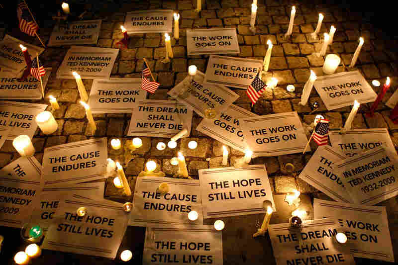 A candlelight vigil in memory of Kennedy was held Wednesday at Dupont Circle in Washington, D.C..