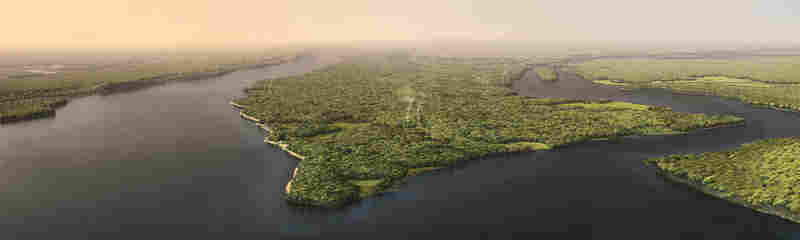 With computer-generated imagery, ecologists can show what Manhattan Island looked like on the September afternoon when  Henry Hudson and his crew sailed into New York Harbor.
