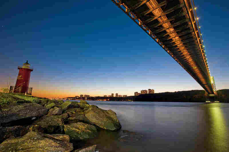 Today the prominent landmark at Jeffrey's Hook is the Little Red Lighthouse beneath the George Washington Bridge.