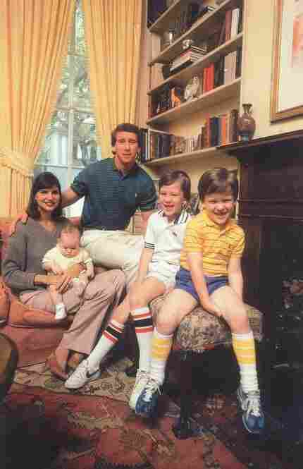 The Mannings in 1981: Olivia holds Eli, 6-8 months, next to Archie, Peyton, 5, and Cooper, 7.
