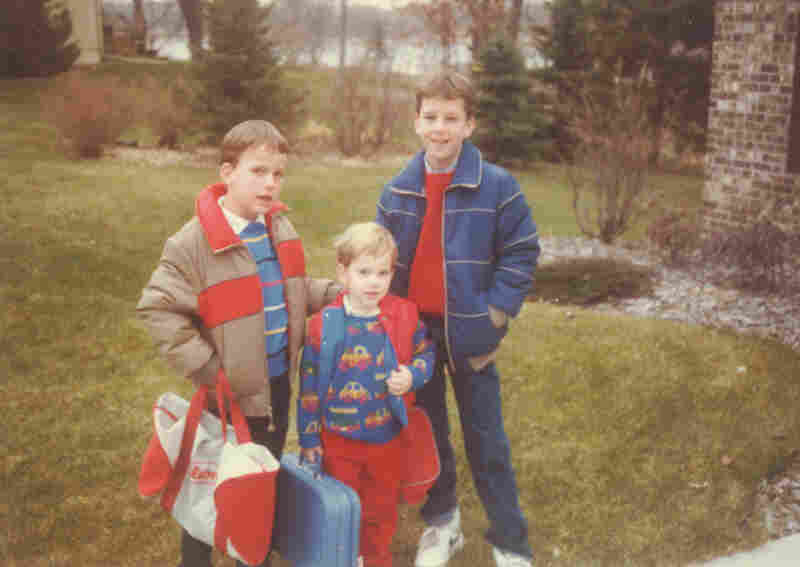 On the go: In an undated family photo, Peyton (from left), Eli and Cooper are ready for a trip — quite possibly like the one described in Family Huddle.