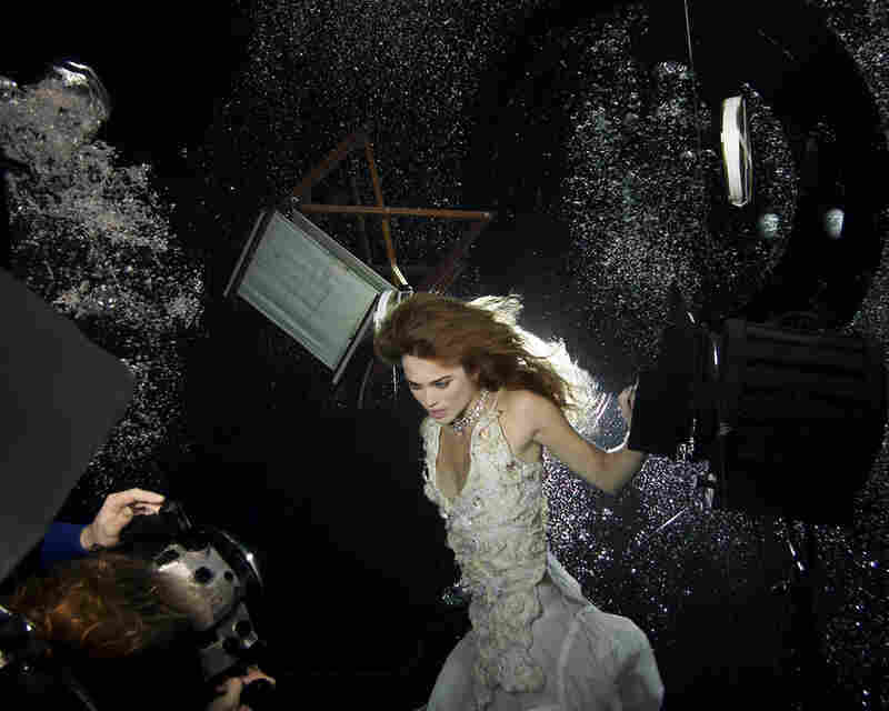 Keira Knightley in a commercial shoot