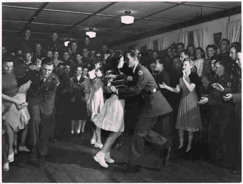 Jitterbug Dancing, Hattiesburg, Mississippi, 1941. This unpublished photograph shows dancers at a weekly Friday gathering hosted by the service club of the 37th Division of the National Guard at Camp Shelby.