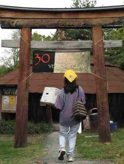 Each yurt at Glen Echo Park in Maryland houses an art studio.  This is the ceramics yurt.