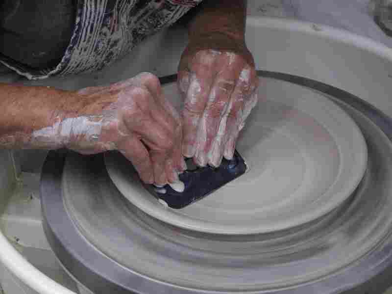 It all begins on the potter's wheel.