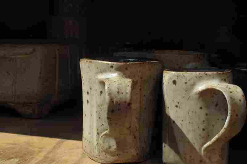 When the glaze is fired in the kiln, it transforms.
