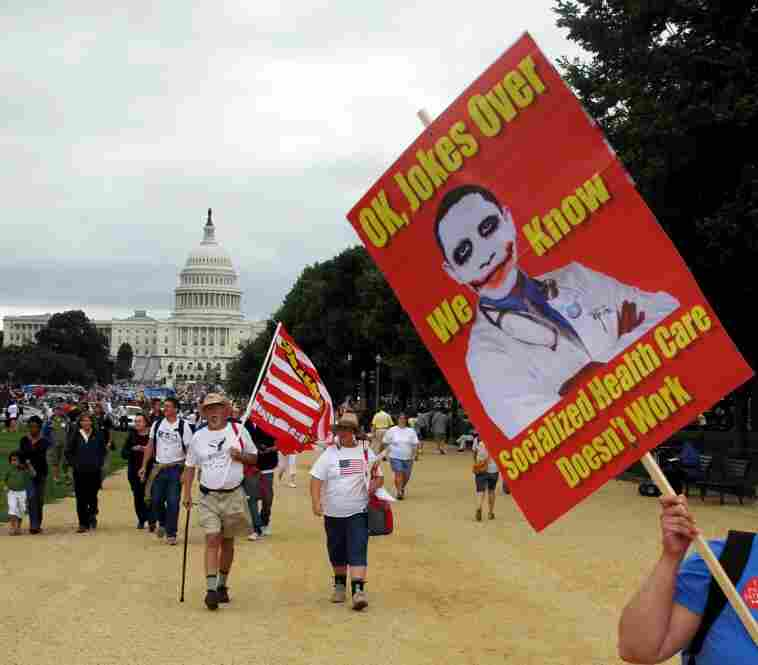 Estimates of the size of crowd on The National Mall have varied widely, from 60,000 to 2 million.