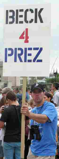 FOX News Host Glenn Beck is a hero to many of the protestors of who came to the Mall.