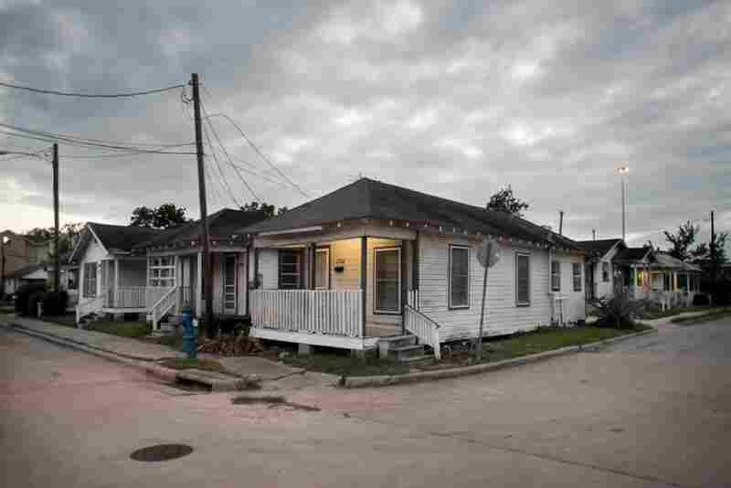 """Shotgun houses"" were built with all the rooms in a row, so that breezes could pass through and take the edge off the Texas heat."