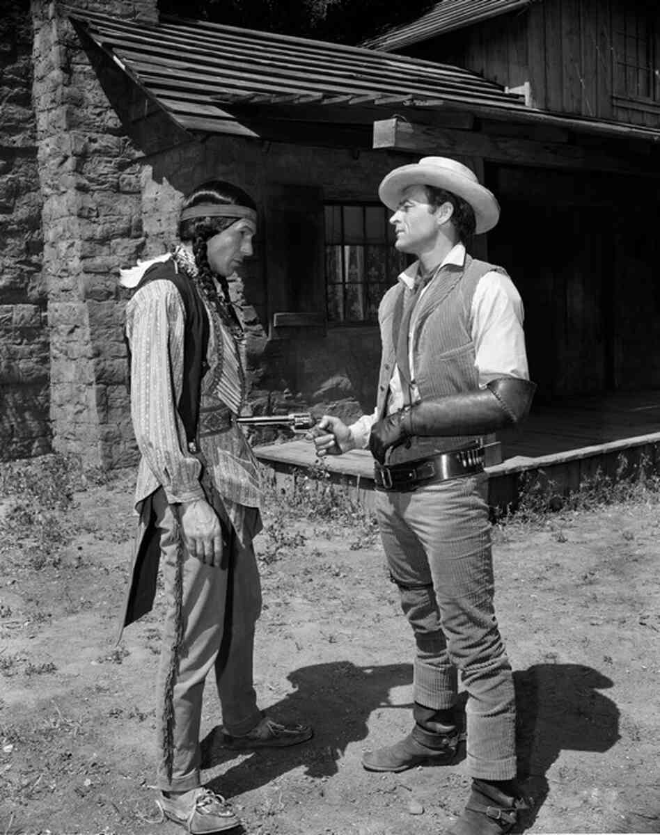 Before landing the role of Mr. Spock, Leonard Nimoy spent much of his early career doing small parts in TV shows and movies. Here, he plays the part of a Comanche Indian, alongside David McLean in an episode of Tate, which aired Aug. 10, 1960.