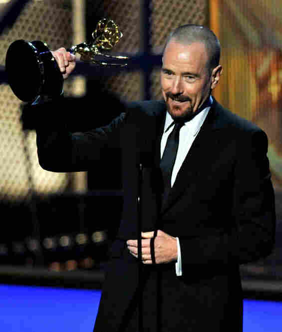Bryan Cranston won his second consecutive Emmy for best lead actor in a drama series for his role in Breaking Bad.