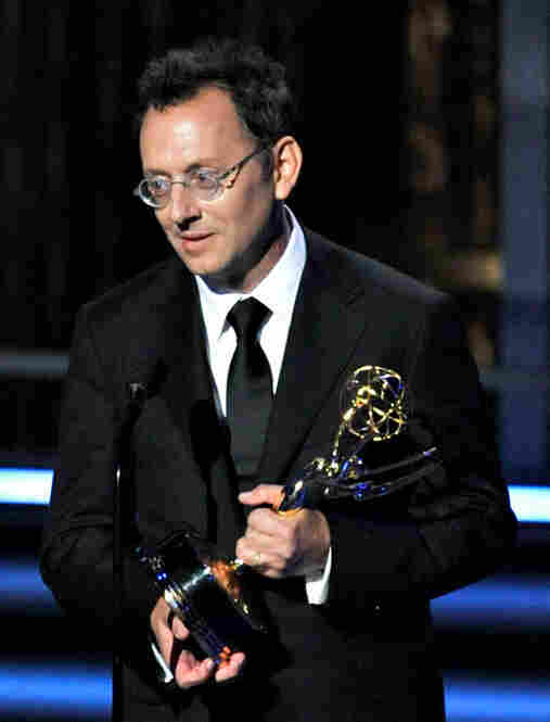Michael Emerson accepts the Emmy for best supporting actor in a drama series for his work on Lost.