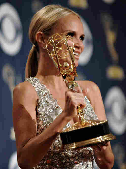 Kristin Chenoweth won the award for best supporting actress in a comedy for her portrayal of Olive Snook in the now-canceled series Pushing Daisies.