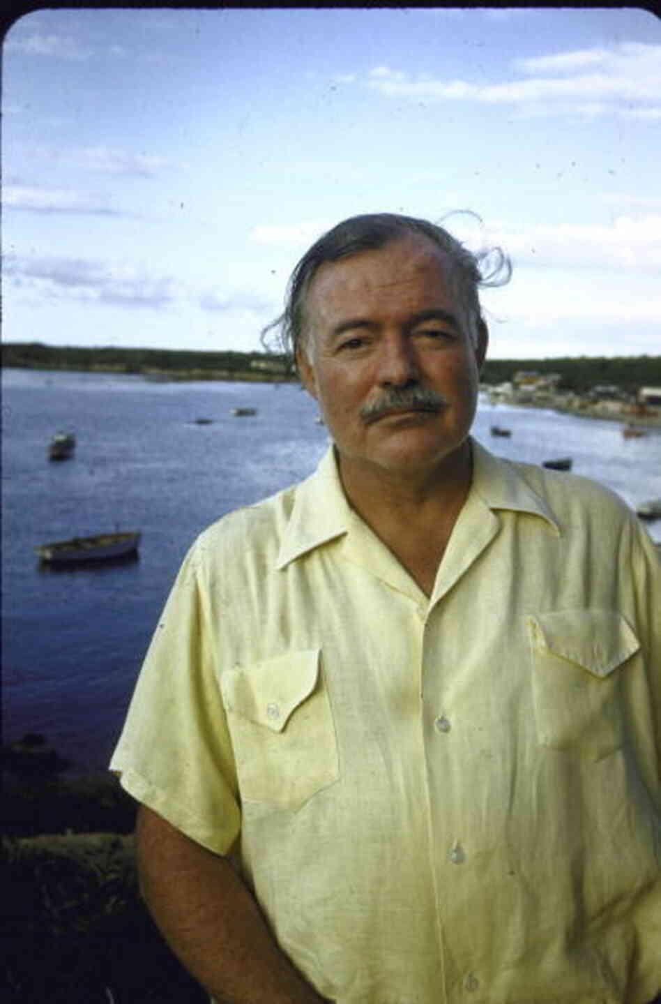 Ernest Hemingway at a Cuban fishing village