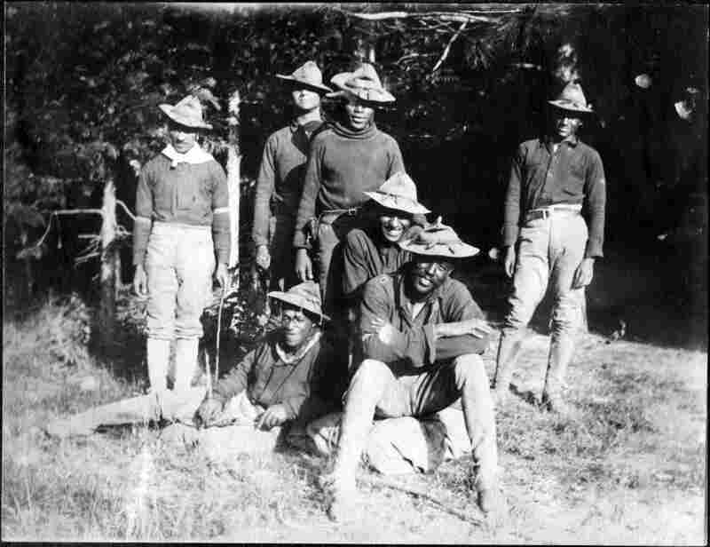 "Before the creation of the National Park Service in 1916, the task of protecting the handful of national parks fell to the U.S. Army. Among the guardians were African-American ""Buffalo Soldiers,"" shown here in 1903."