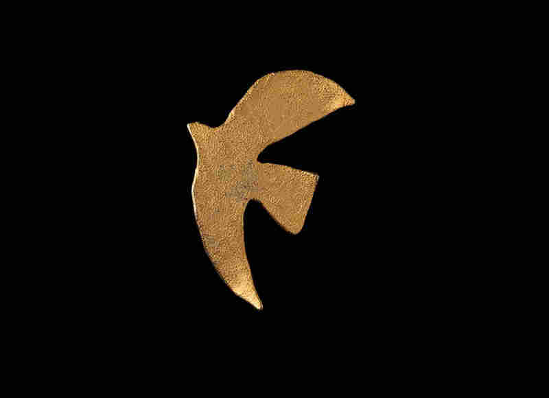 Peace Dove, Cecile et Jeanne (France), c. 1997 - This dove pin was given to Albright by Leah Rabin, wife of Israeli Prime Minister Yitzhak Rabin, who was assassinated in 1995.  She wore the pin whenever she gave a speech related to the Middle East.
