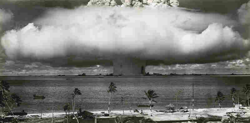 The second atomic bomb is tested in Operation Crossroads. Bikini Atoll, 1946
