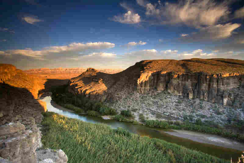 Rio Grande River separating the U.S. and Mexico, Big Bend National Park, Texas