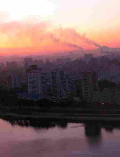 North Korea is one of the least-visited countries in the world. Here, the sun sets over Pyongyang.