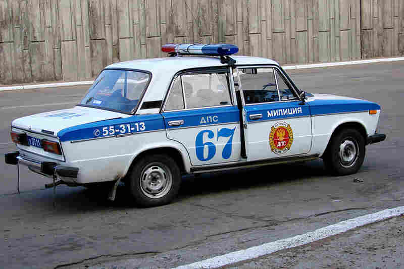 During the 1980s and '90s, many Ladas were used as official government vehicles, such as this police car in Vladivostok, Russia.