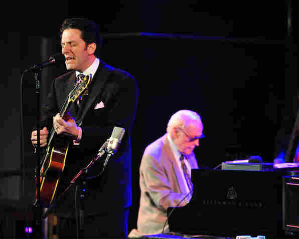 John Pizzarelli and John Bunch performing at Dizzy's Club Coca-Cola.