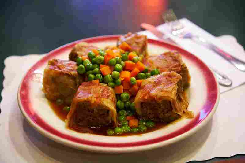 """The stuffed cabbage hungroise is made from Parker's grandmother's recipe. """"Good thing she was a good cook,"""" he says, """"or I'd be in trouble."""""""