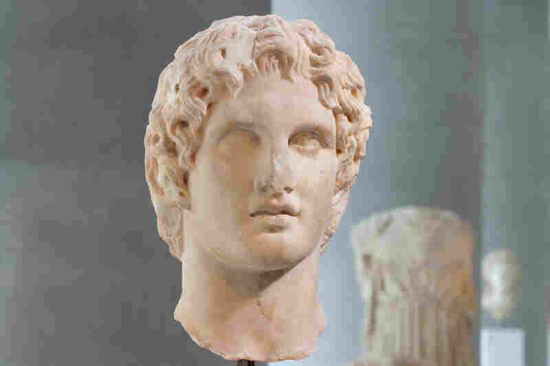 This sculpted head of Alexander the Great was found in 1886 near the Erechtheion, the ancient temple on the north side of the Acropolis.