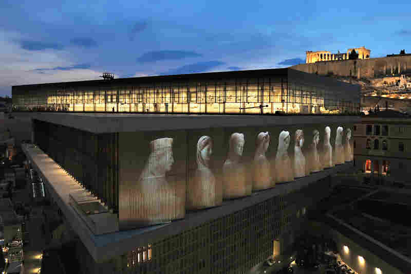 Greece's new Acropolis Museum, designed by Swiss-American architect Bernard Tschumi, houses about 4,000 artifacts and sculptures, 10 times the number of items previously held in a small museum atop the Acropolis hill in Athens.