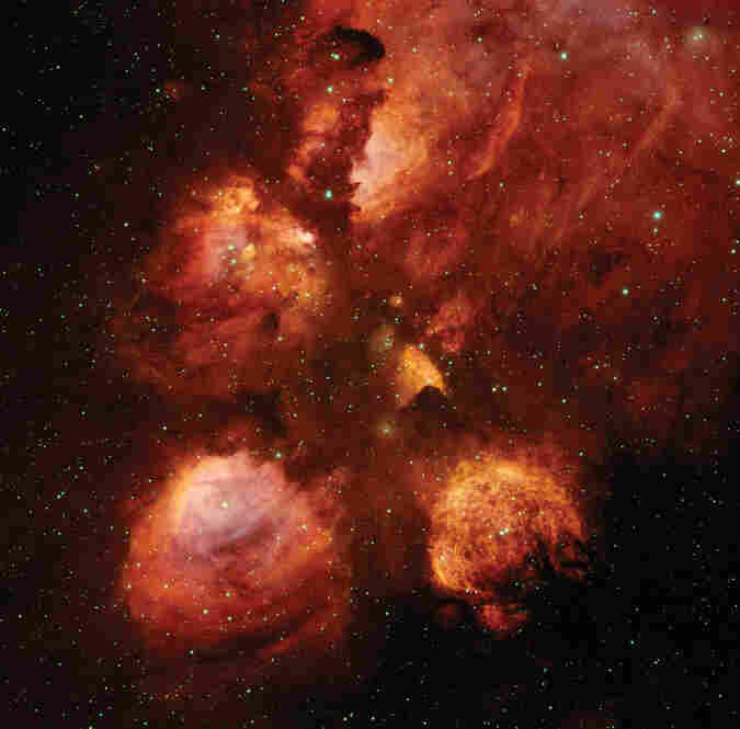 The Cat's Paw Nebula is a star-formation region located 5,500 light-years away.