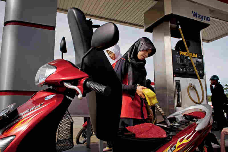 More than half of all women in Indonesia have jobs, largely because of recent economic crises.