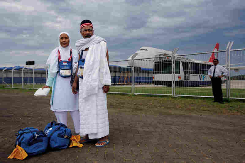 Pilgrims prepare to depart for Mecca. Last year, nearly 200,000 Indonesians made the pilgrimage.