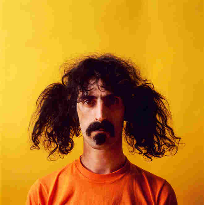 """Frank Zappa, """"Himself,"""" New York City, 1967. """"I had photographed the Rolling Stones in drag. Zappa must have liked the photograph. Zappa called me and said he would like to do a photo combining the idea of the Stones in drag and The Beatles' Sgt. Pepper's."""""""