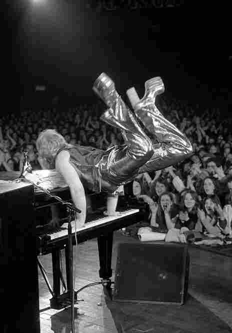 "Elton John, Sundown Theatre, Edmonton, North London, 1973. ""Back when I was one of a small handful of photographers working in the music scene, access to artists and gigs was easy. I believe it's not quite the same these days to shoot as I did; there are so many restrictions imposed on photographers."""