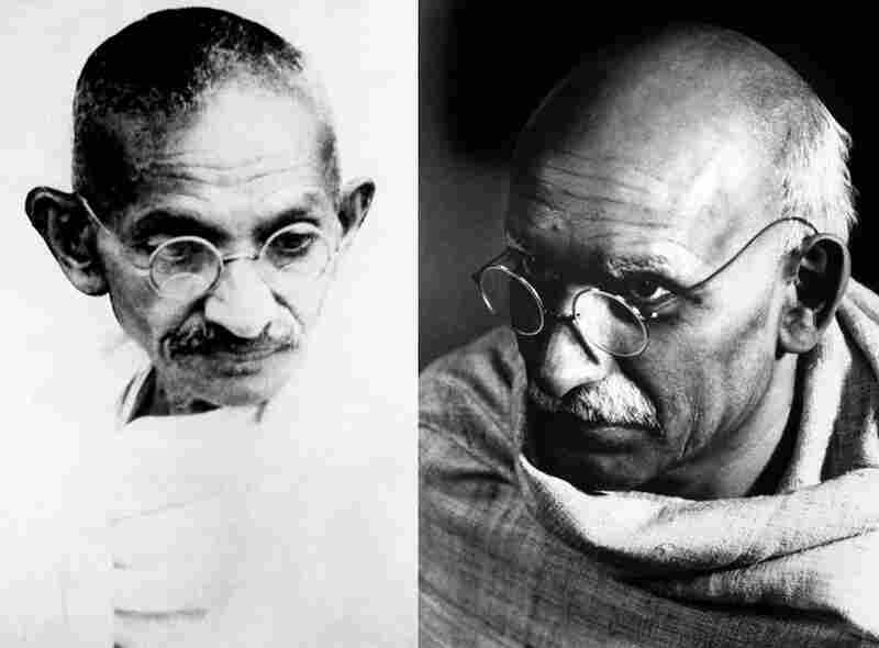 Look-Alikes: Ben Kingsley (right) resembled Mahatma Gandhi (left) in the 1982 film Gandhi to the point that many Indians are said to have believed him to be Gandhi's ghost.