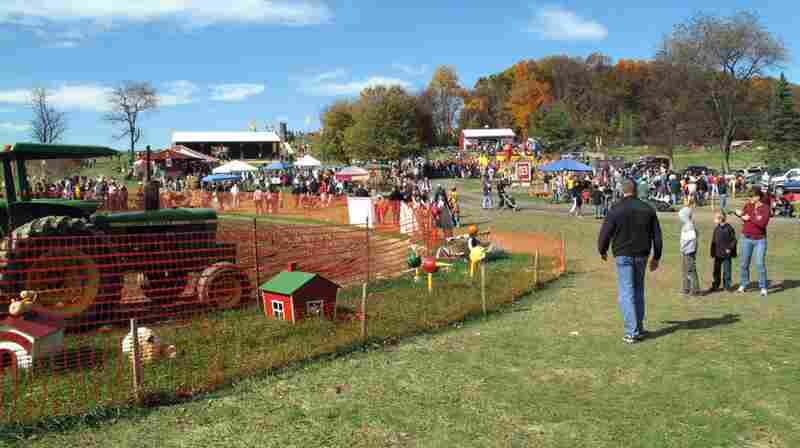 Butler's Orchard in Germantown, MD, was packed with families on a recent Sunday afternoon.