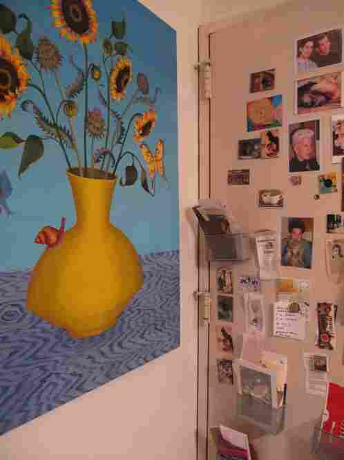 Betsy Karasik's home is also her studio - a 5th floor apartment located a couple of blocks from Dupont Circle.