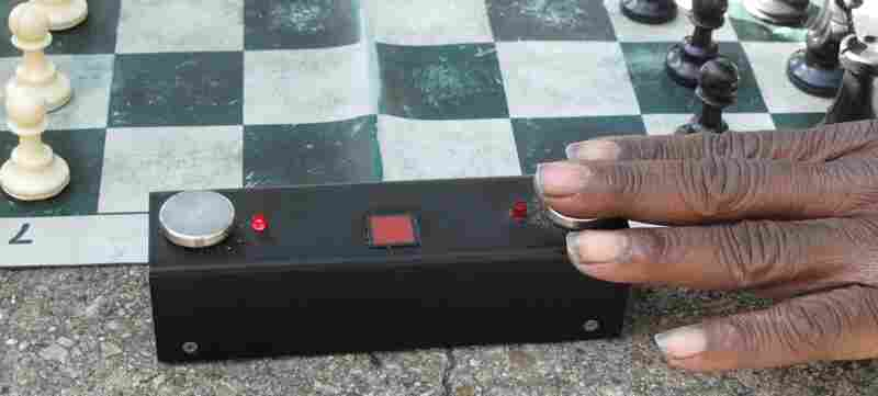 Blitz chess.  Five minutes each.
