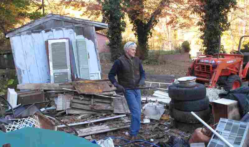 Sam Dwyer is fixing up a house that he and his wife bought at an auction earlier this month.