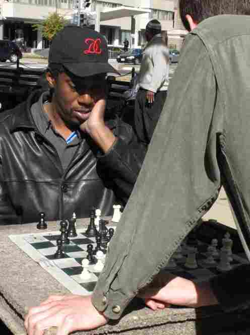 Tom Murphy is a fixture of the Dupont Circle chess scene.  He likes to play for a little something.