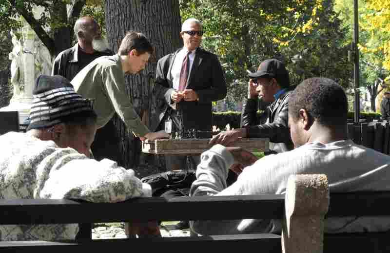 Pickup chess match, Dupont Circle.  Sean Phillips meets Tom Murphy.